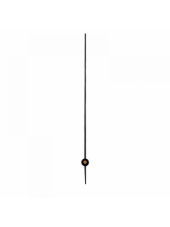 Стрелка секундная для часового механизма 80 мм, черный металл, Hermle Германия