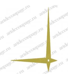 Стрелки для часов золотистые металлические, 112/80 мм, Hermle (Германия)