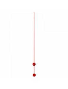 Стрелка секундная для часового механизма 110 мм, красный металл, Hermle, Германия