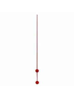 Стрелка секундная для часового механизма 110 мм, красный металл, Hermle Германия