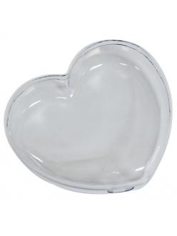 Заготовка шкатулка в форме сердца, прозрачный пластик, 15х14х4,5 см, Stamperia
