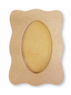 Заготовка фоторамка со стеклом ажурная, 18х26 см, МДФ, Stamperia