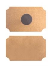 Заготовки магнит прямоугольный из МДФ 2 шт, 9х6 см, Stamperia (Италия)