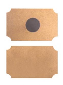 Заготовка магнит на холодильник прямоугольный из МДФ 2 шт, 9х6 см, Stamperia