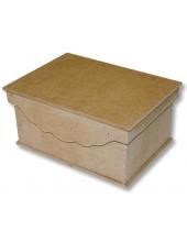 Заготовка шкатулка со съемной крышкой, фигурный край, МДФ, 19,9х14,9х9 см, Stamperia