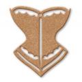 """Заготовка фигурка плоская """"Корсет"""", 5,8x6,7 см, МДФ, Stamperia"""