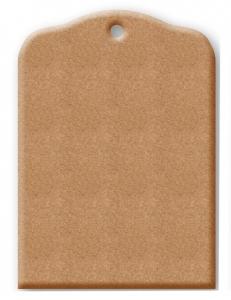 Заготовка Бирка из МДФ, 9,8x13,9 см, Stamperia