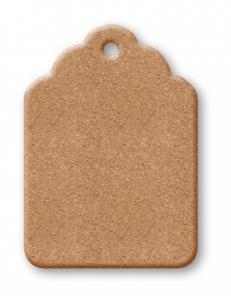 Заготовка Бирка с резным краем из МДФ, 8,9x12,5 см, Stamperia