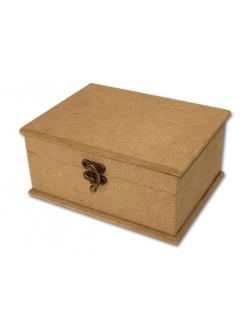 Заготовка  шкатулка прямоугольная с замочком из МДФ, 20х15х9,5 см, Stamperia