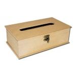 Заготовка шкатулка для салфеток с прорезью и замочком, МДФ, 26,8x15,5x8,8 см, Stamperia
