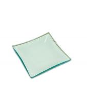 Заготовка стеклянная тарелка квадратная, 12,5x12,5 см, Stamperia