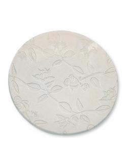 Заготовка для декора - блюдо круглое стеклянное с рельефным узором, диам. 21,5 см, Stamperia (Италия)