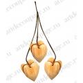 "Заготовка подвеска ""Сердечки"", дерево, 40х35х4 мм, 6 шт, Stamperia (Италия)"