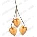 Заготовка подвеска Сердечки, дерево, 40х35х4 мм, 6 шт, Stamperia Италия
