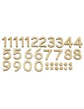 Цифры для часов накладные арабские, дерево, 25 мм, Stamperia (Италия)