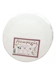 Холст на подрамнике грунтованный круглый, 100% хлопок, диаметр15 см, Stamperia