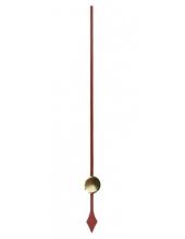Стрелка секундная для часового механизма YT6049red, красный металл, 73 мм, Young Town (Гонконг)