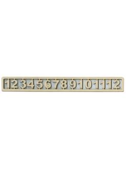Цифры для часов арабские, деревянные, 20 мм, WOODBOX