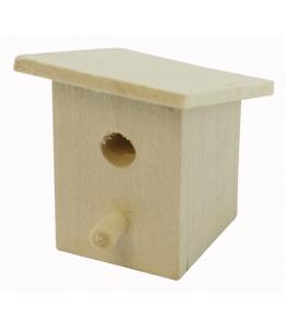 Миниатюрный деревянный скворечник, 30х50 мм, WOODBOX (Россия)