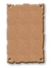 Заготовка панно с резным краем из МДФ, 11,2х17,5 см, Stamperia (Италия)