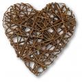 Заготовка декоративный венок Сердце, лоза,15 см, толщина 4 см, Stamperia (Италия)