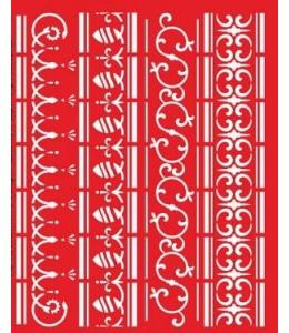 """Трафарет объемный """"Бордюры"""" 21х26 см, толщина 0,5 мм"""