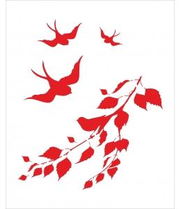 """Трафарет объемный """"Птицы в полете"""", 15х18 см, толщина 0,5 мм"""