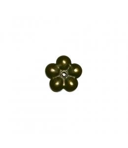 Шляпка для гвоздя декоративная Цветок, 20х20мм, бронза, 1 шт