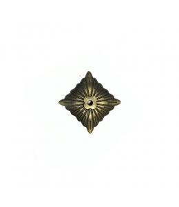 Шляпка для гвоздя декоративная Вензель, 20х20мм, бронза