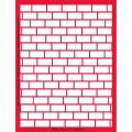 Трафарет объемный Кирпичная стена, 15х18 см, толщина 0,5 мм