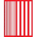 Трафарет объемный Полоски, 15х18 см, толщина 0,5 мм