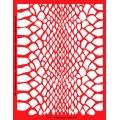 Трафарет объемный Змеиная кожа, 15х18 см, толщина 0,5 мм