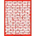 Трафарет объемный Каменная стена, 15х18 см, толщина 0,5 мм