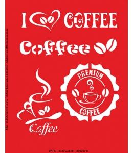 Трафарет объемный Кофе, 15х18 см, толщина 0,5 мм