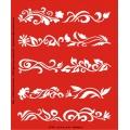 Трафарет объемный Завитки цветочные, 21х26 см, толщина 0,5 мм