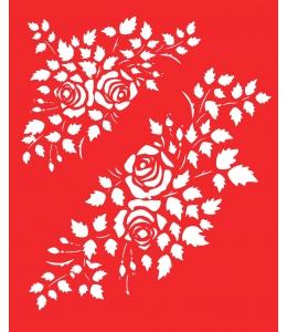 Трафарет объемный Розы, 15х18 см, толщина 0,5 мм