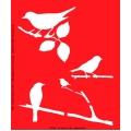 Трафарет объемный Птичка на ветке, 15х18 см, толщина 0,5 мм