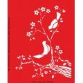 Трафарет объемный Птички на ветке, 15х18 см, толщина 0,5 мм