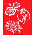 Трафарет объемный Розы и лилия, 15х18 см, толщина 0,5 мм