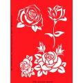 Трафарет объемный Роза, 15х18 см, толщина 0,5 мм