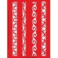 Трафарет объемный Бордюры, 15х18 см, толщина 0,5 мм