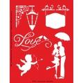 Трафарет объемный Любовь, 15х18 см, толщина 0,5 мм