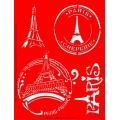 Трафарет объемный Париж, 15х18 см, толщина 0,5 мм