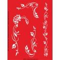 Трафарет объемный Уголки цветочные, 15х18 см, толщина 0,5 мм