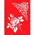 Трафарет объемный Уголок и роза, 21х26 см, толщина 0,5 мм