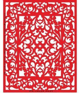 Трафарет объемный Прямоугольный орнамент, 15х18 см, толщина 0,5 мм