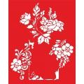 Трафарет объемный Рамочка с розами, 15х18 см, толщина 0,5 мм