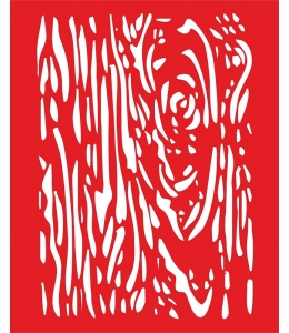 Трафарет объемный Текстура дерева, 21х26 см, толщина 0,5 мм