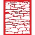 Трафарет объемный Каменная кладка, 15х18 см, толщина 0,5 мм