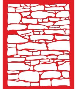Трафарет объемный Каменная стена, 21х26 см, толщина 0,5 мм